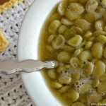 fresh lima beans cooked slowly