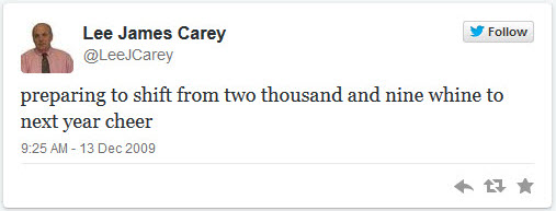 leejcarey  first tweet