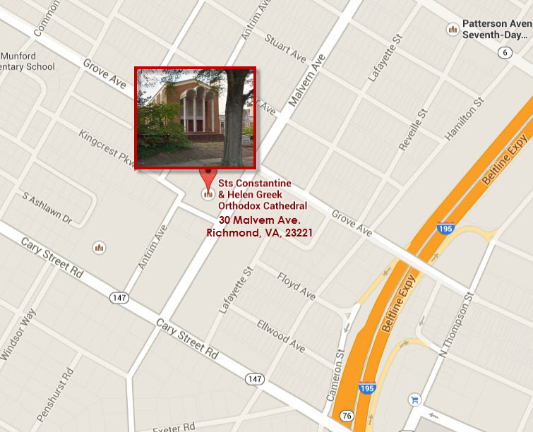 map google  sts constantine and helen greek orthodox cathedral