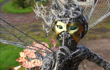 Thumbnail image for Fantasywire Wire Fairy Sculptures By Robin Wight