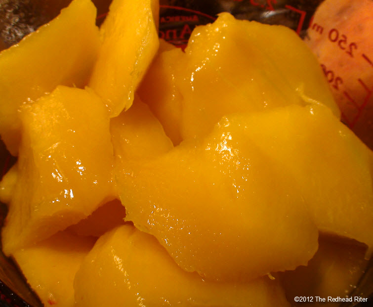 fresh juicy peeled diced mango 6