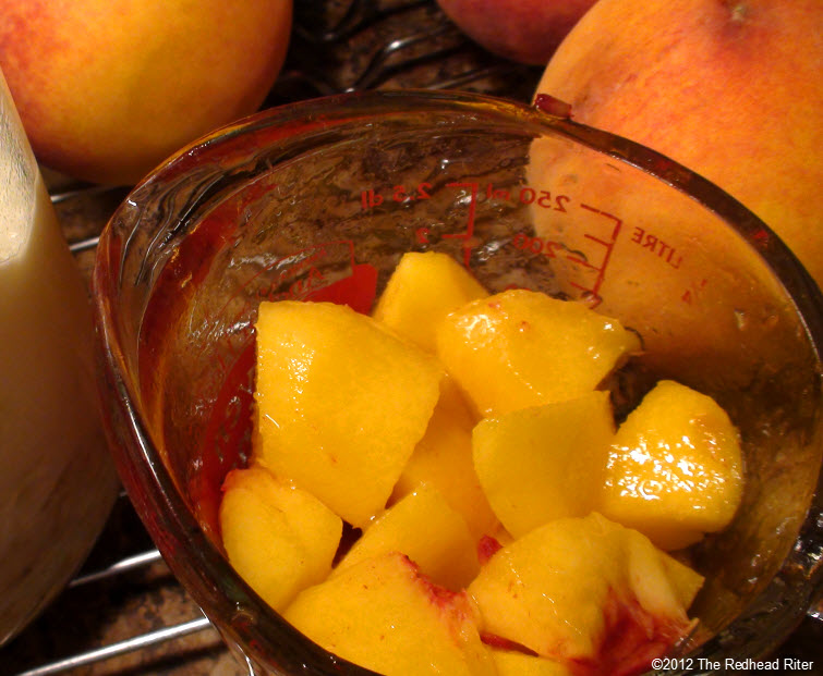 fresh juicy peeled diced peaches 5