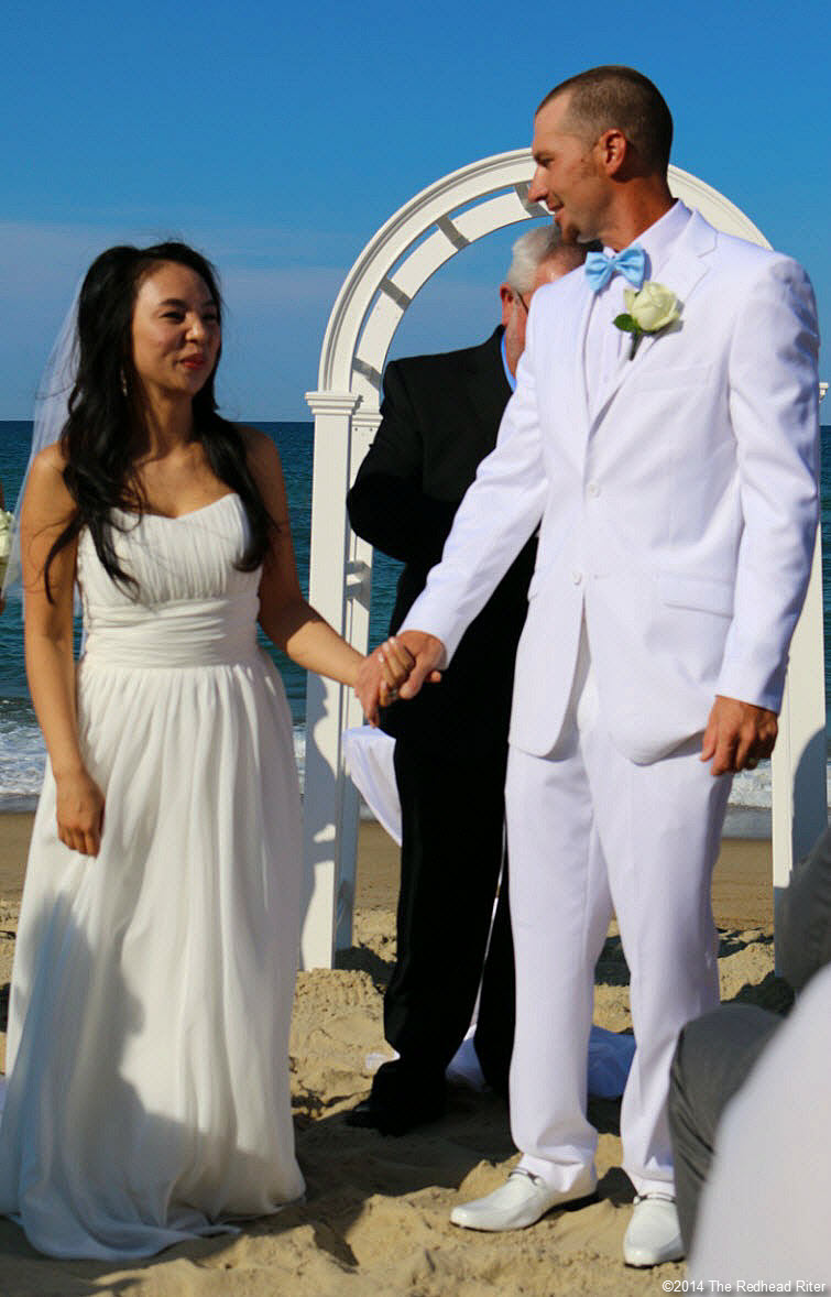10 Mr and Mrs Outer Banks Beach Wedding 1
