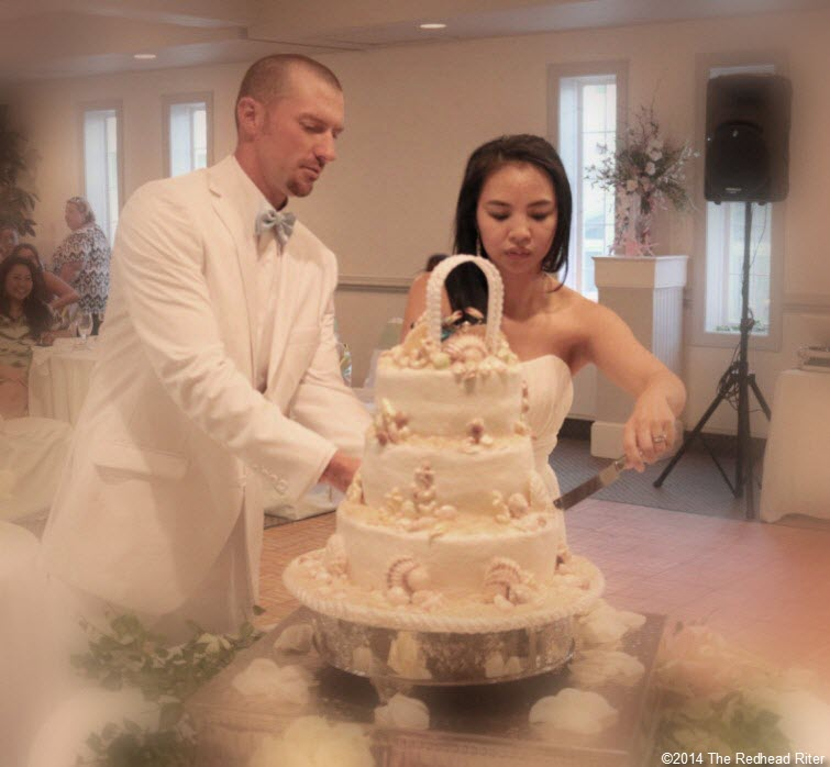 20 cake Outer Banks Beach Wedding reception 2