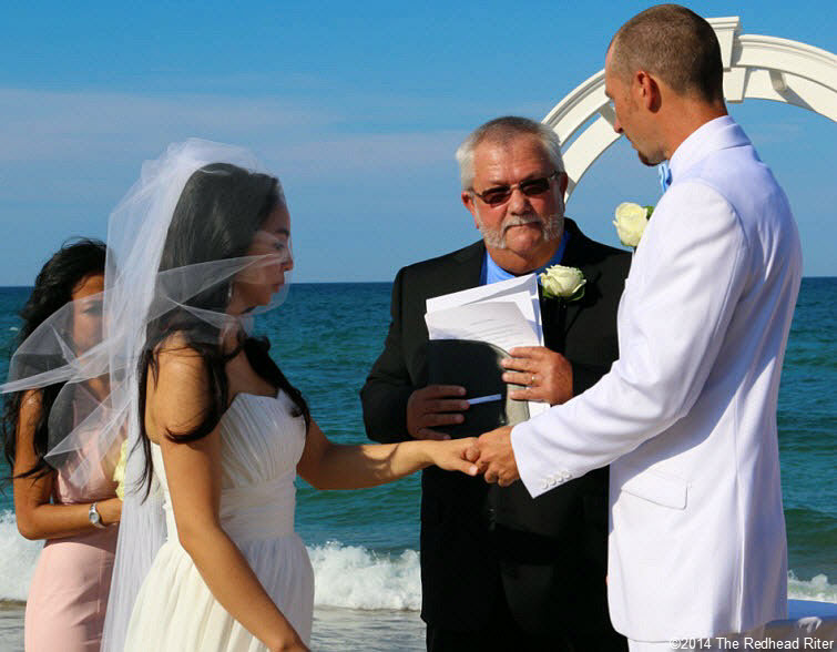 5 with this ring Outer Banks Beach Wedding 1