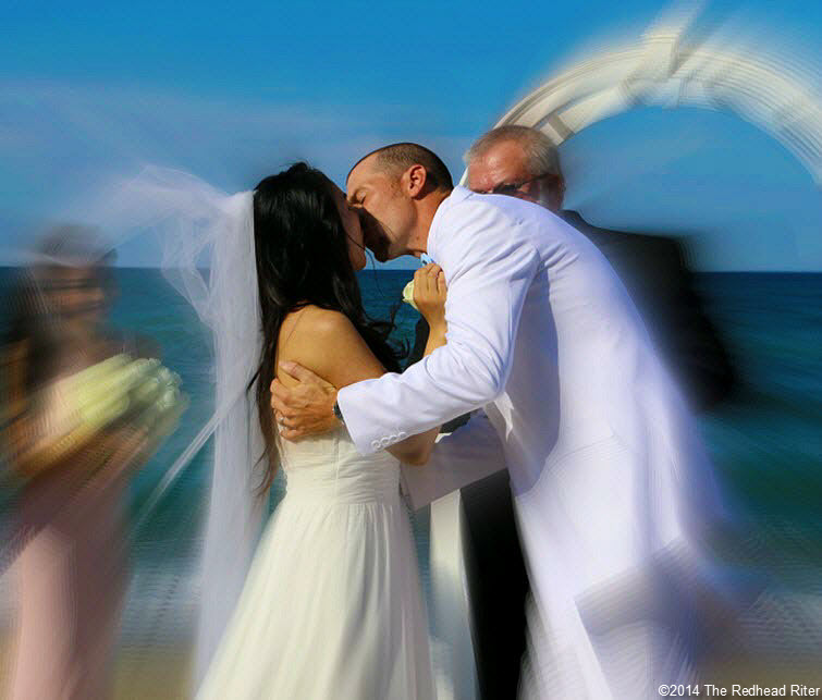 9 you may kiss the bride Outer Banks Beach Wedding 3a