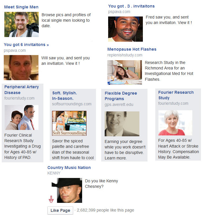 false advertising single men facebook ads privacy issues