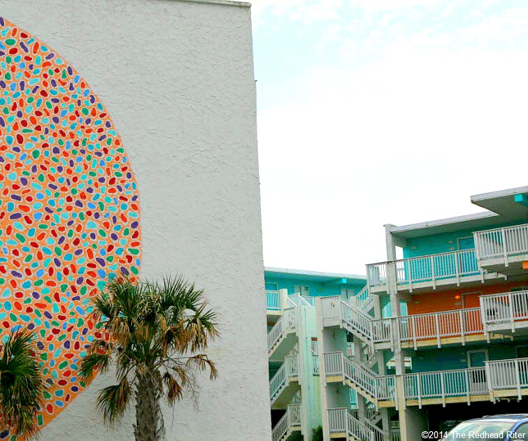 hotel matches painted art multi color circular shapes within circle
