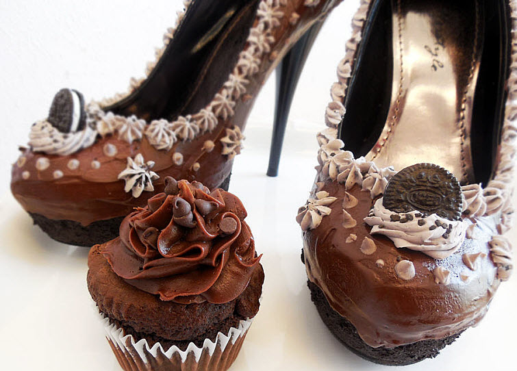 Chocolate Heels Wear Shoes Shoe Bakery Sweet Treats