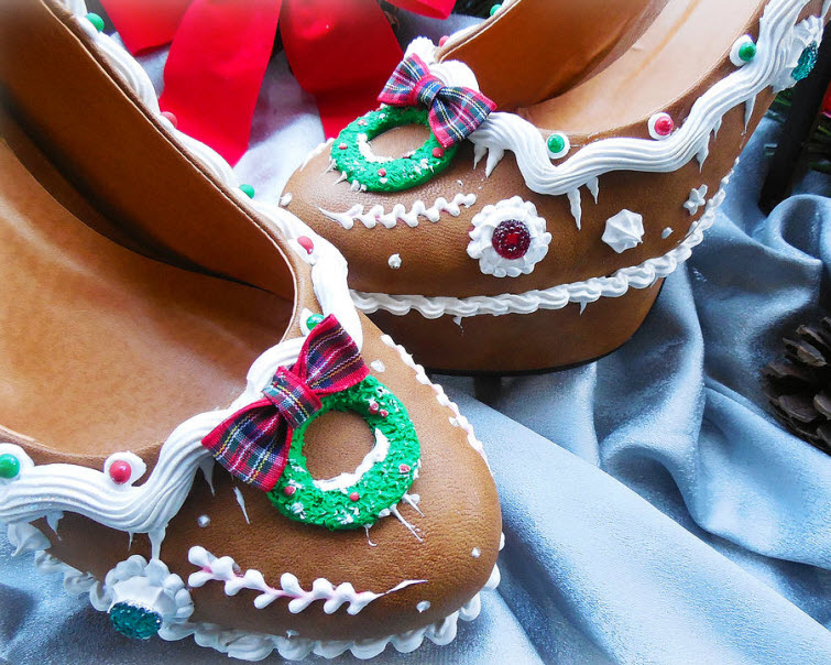 Gingerbread Heels Wear Shoes Shoe Bakery Sweet Treats2