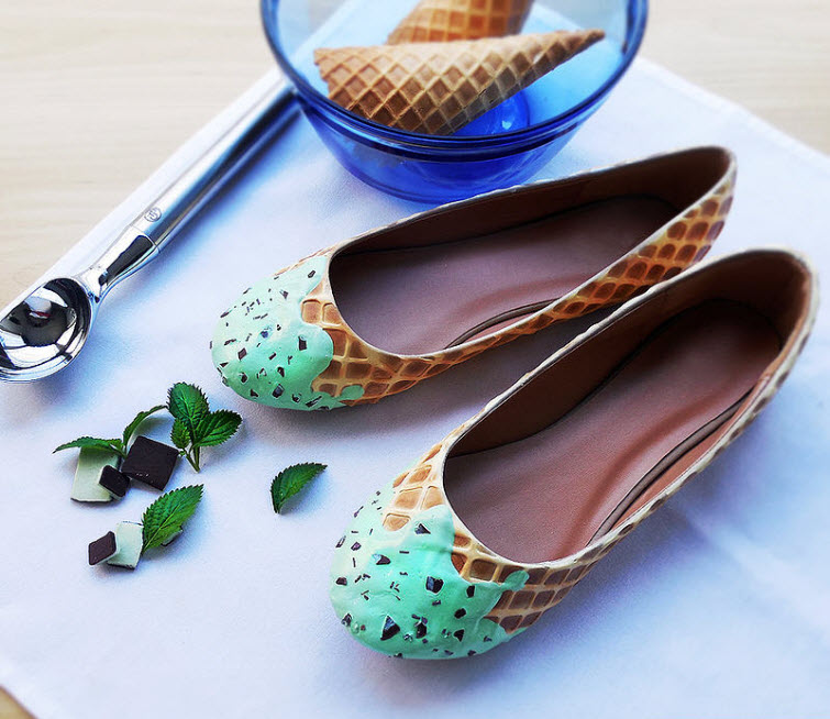 Mint Ice Cream Flats Wear Shoes Shoe Bakery Sweet Treats