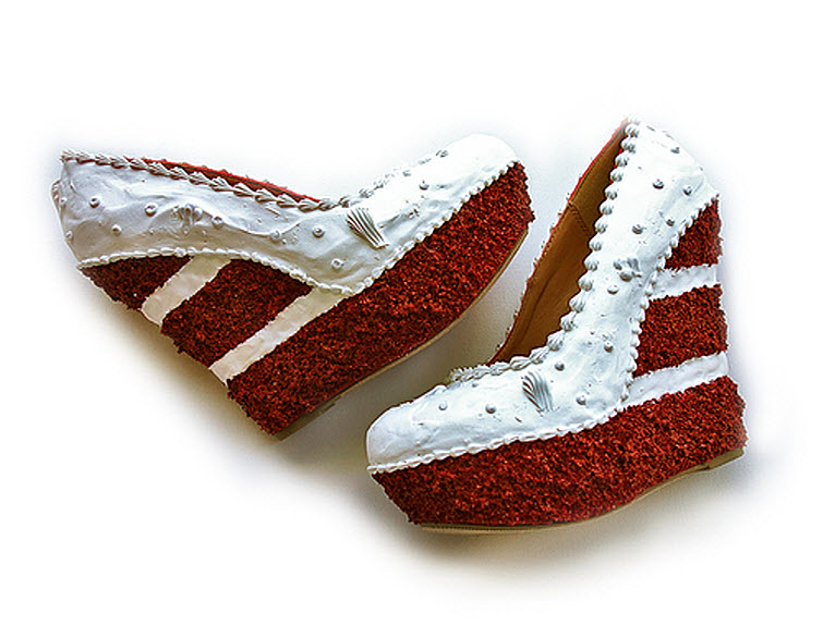 Red Velvet Cake Wedges Wear Shoes Shoe Bakery Sweet Treats