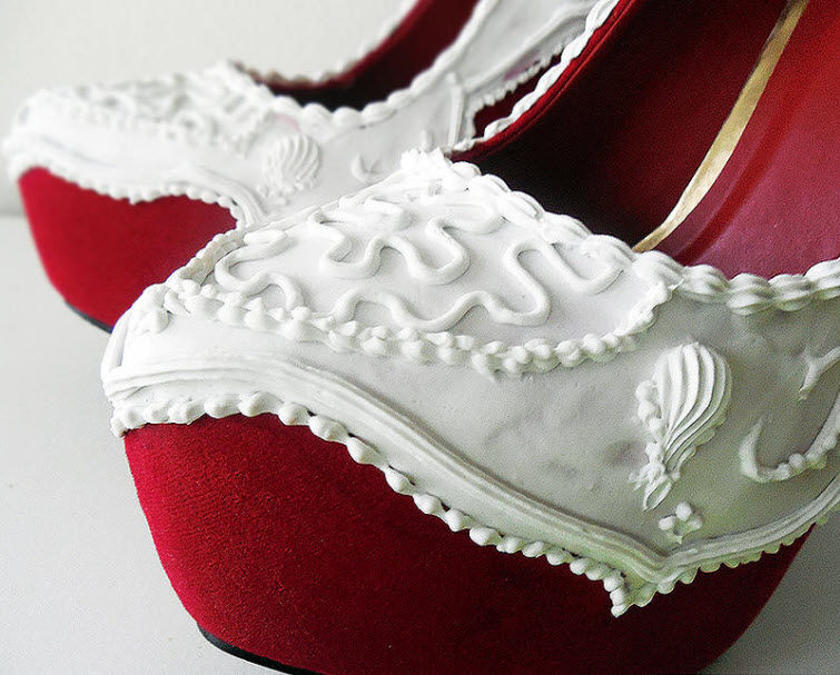 Red Velvet Pumps Wear Shoes Shoe Bakery Sweet Treats