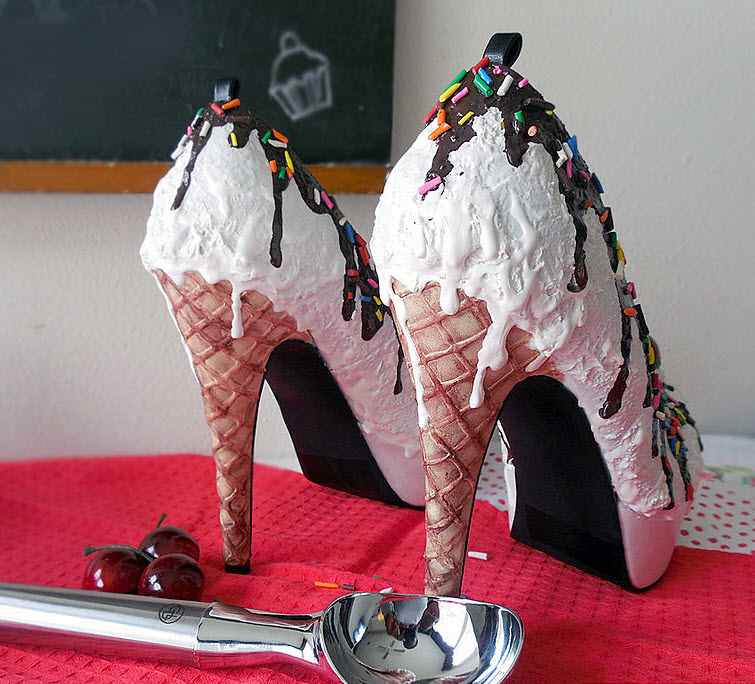 Vanilla Ice Cream Heels Wear Shoes Shoe Bakery Sweet Treats3
