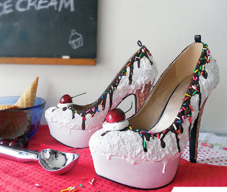 Vanilla Ice Cream Heels Wear Shoes Shoe Bakery Sweet Treats4