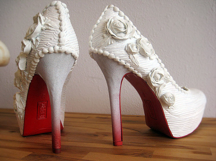 White Rose Wedding Heels Wear Shoes Shoe Bakery Sweet Treats2