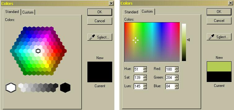 Snagit color choices