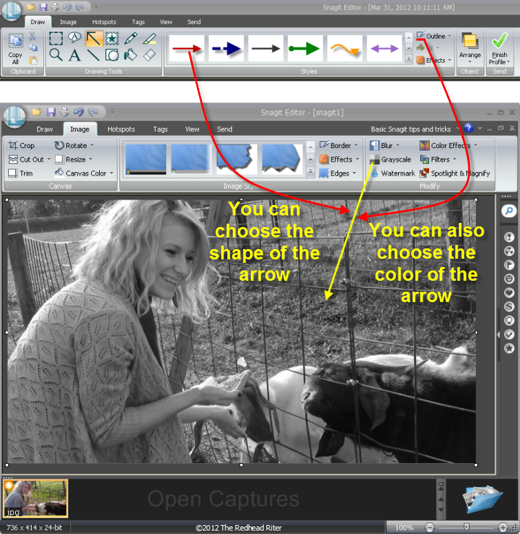 Snagit draw-arrows, image-grayscale