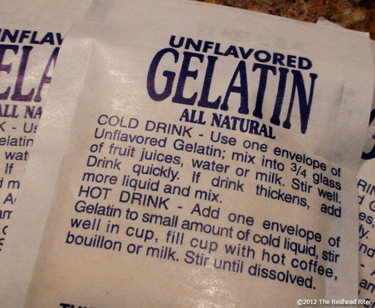 gelatin packages