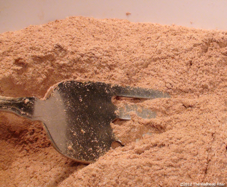 combine the dry ingredients with a fork