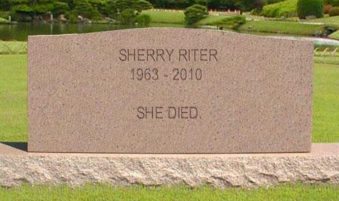 Sherry Riter tombstone