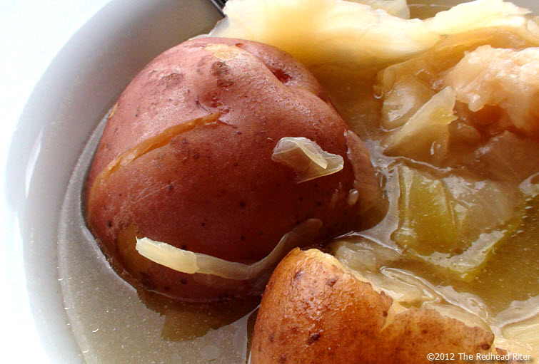 Country cabbage and potatoes