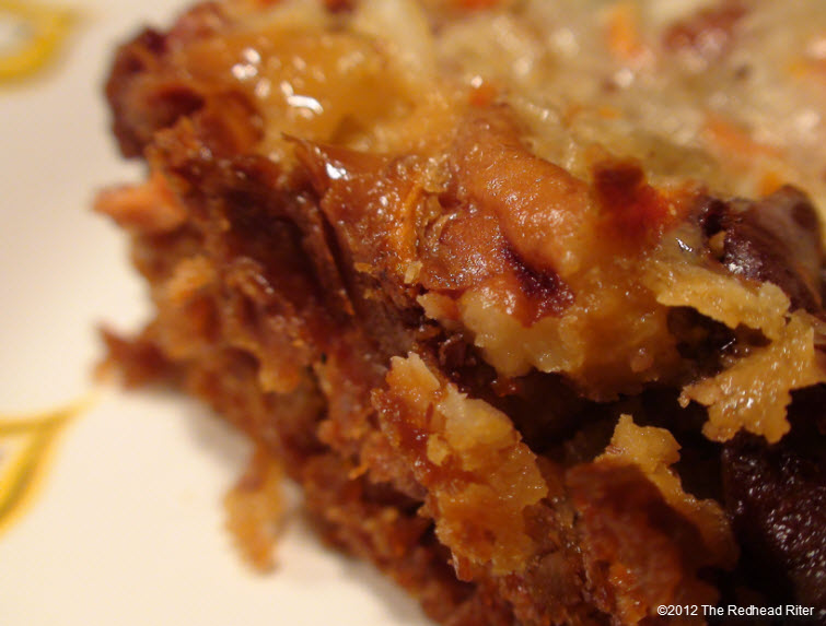 See the delicious brown edge which is especially gooey.