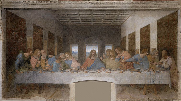 Last Supper Chirst Leonardo da Vinci