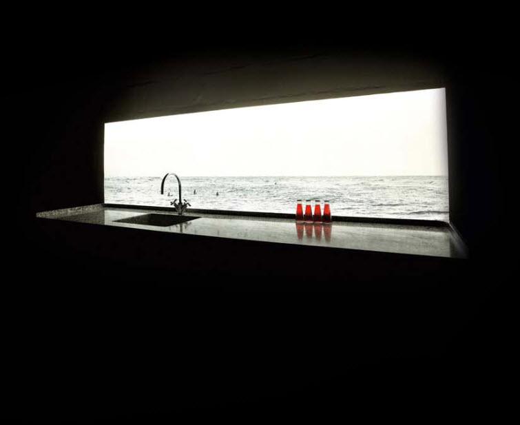 backlit lighted wall sunny ocean
