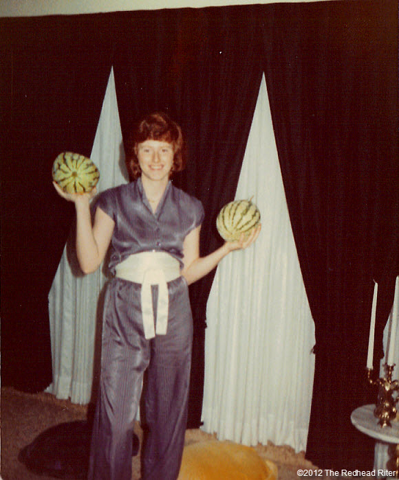 Sherry holding watermelon