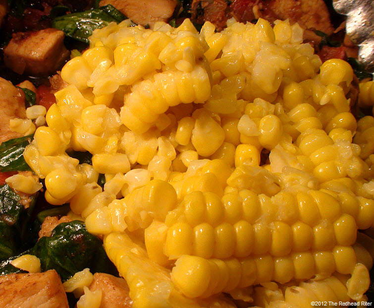 Colorful Chicken Corn Spinach Healthy 2