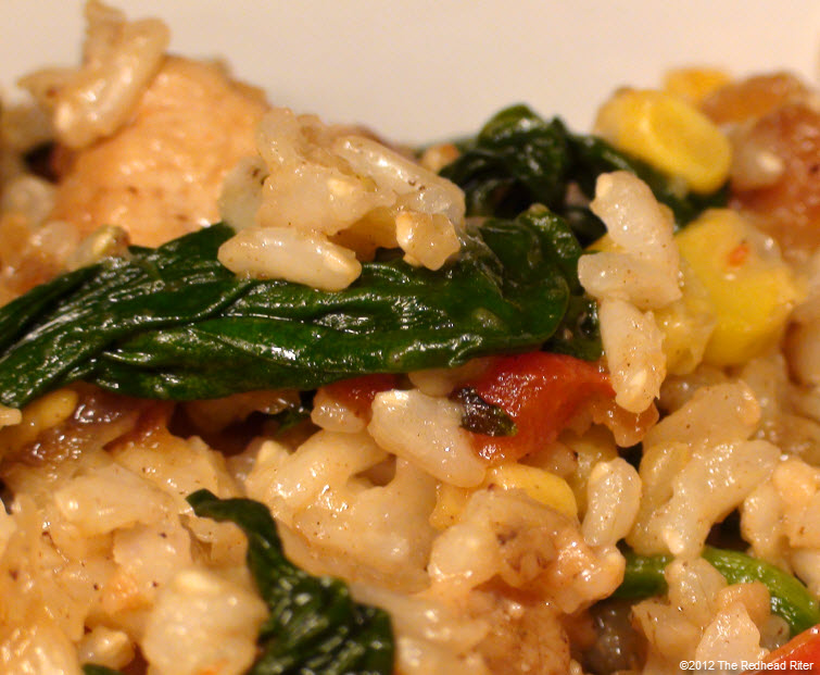 Colorful Chicken Corn Spinach Healthy 6