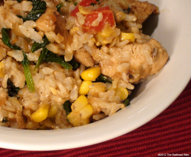 Colorful Chicken Corn Spinach Healthy 8