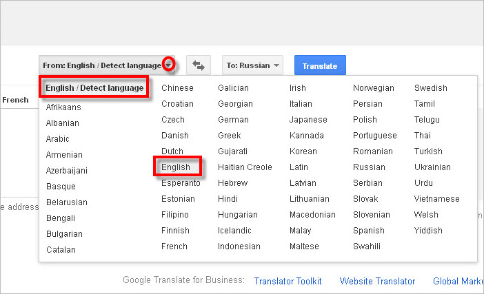 Languages Available Google Translate To 5