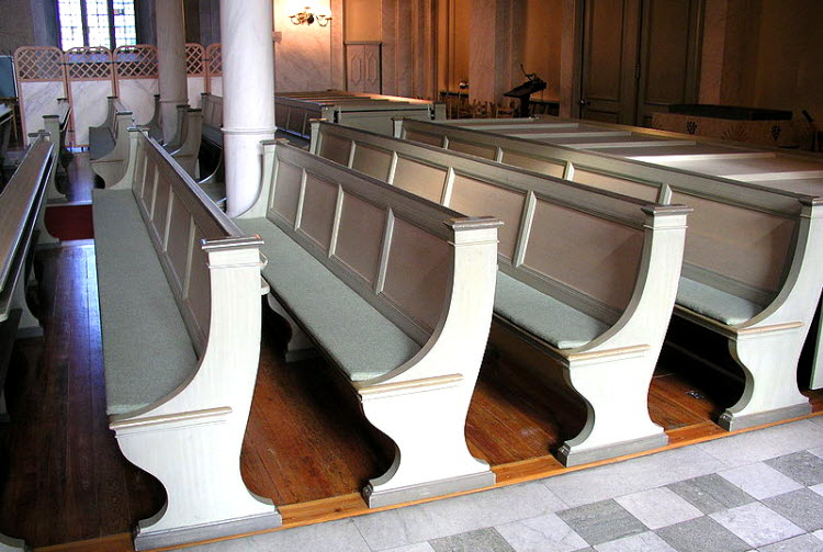 church pew pastor and priest