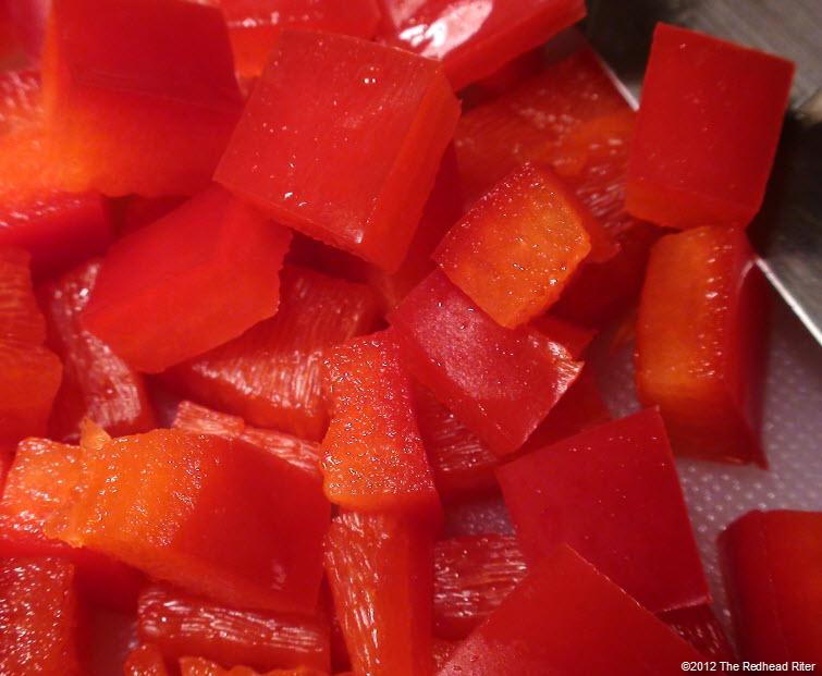 fresh diced red bell pepper