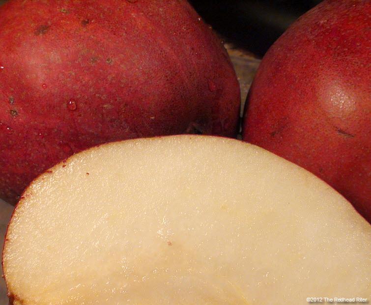 juicy delicious delectable red pear 16