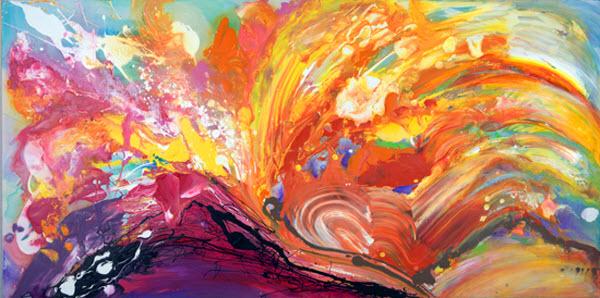 Joan Marie Acrylic Art Morning Has Broken