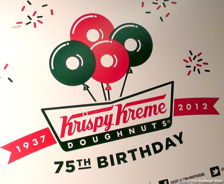 Krispy Kreme Doughnuts 75th Birthday