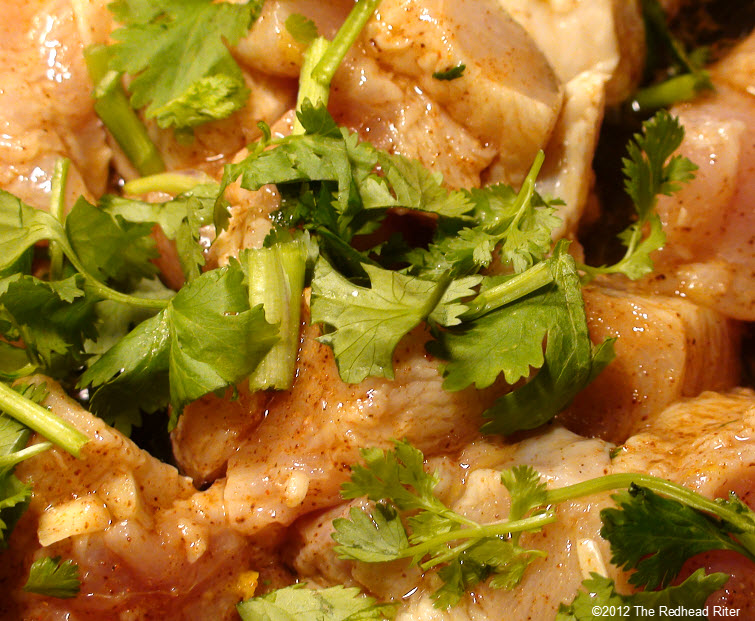 add cilantro to browning chicken 12