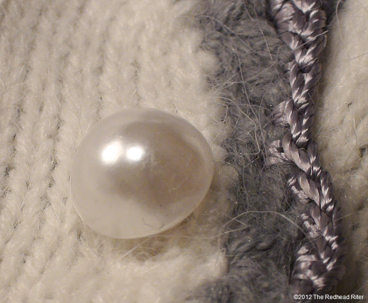 button pearl no holes white