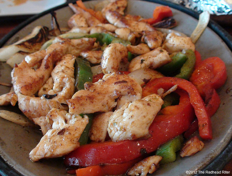 chicken fajitas with red peppers