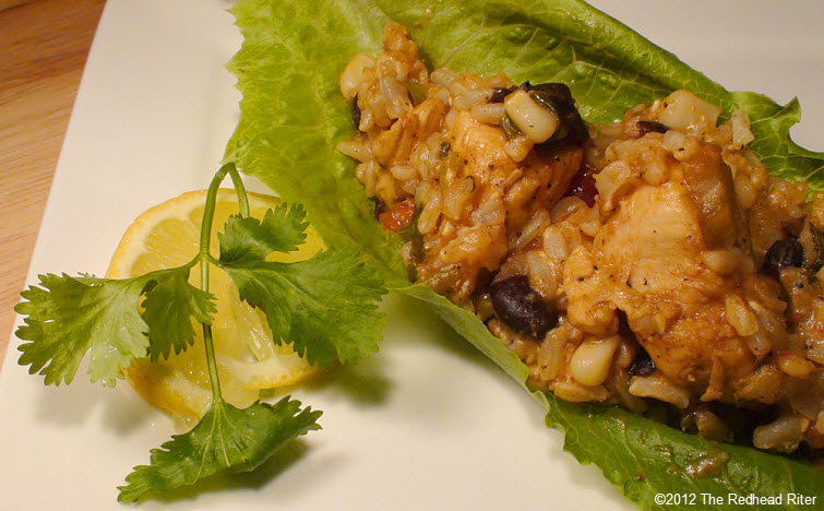 chicken mixture on lettuce leaf 27