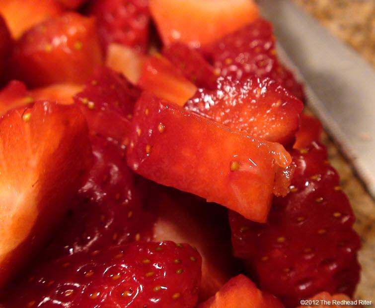 juicy red strawberries leaves removed
