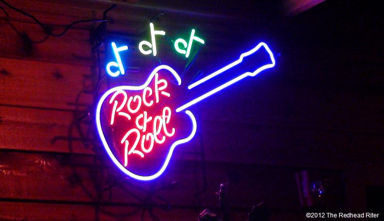 neon guitar in restaurant 2