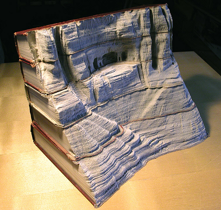 Guy Laramee Transforms Books Into Landscapes 10