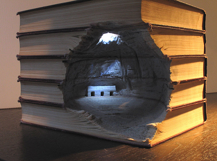 Guy Laramee Transforms Books Into Landscapes 11