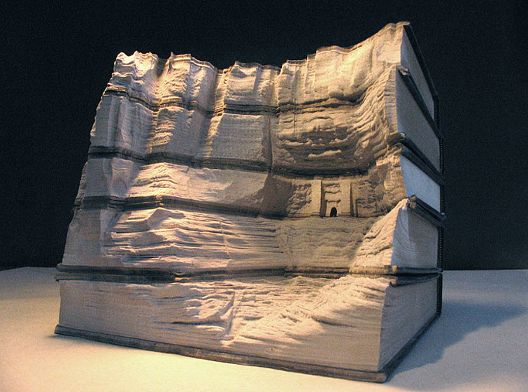 Guy Laramee Transforms Books Into Landscapes 12
