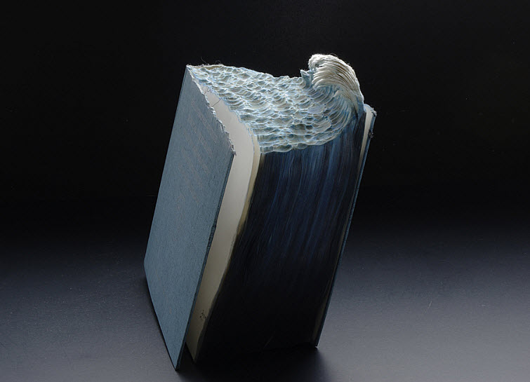 Guy Laramee Transforms Books Into Landscapes 15