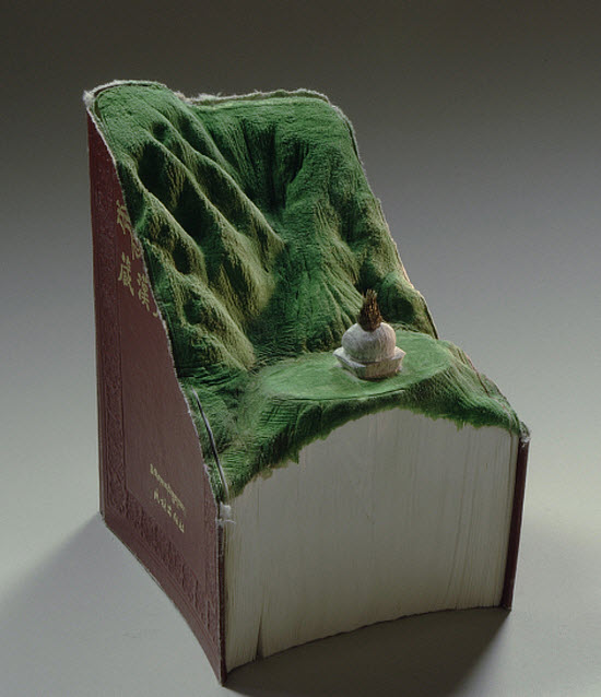 Guy Laramee Transforms Books Into Landscapes 16
